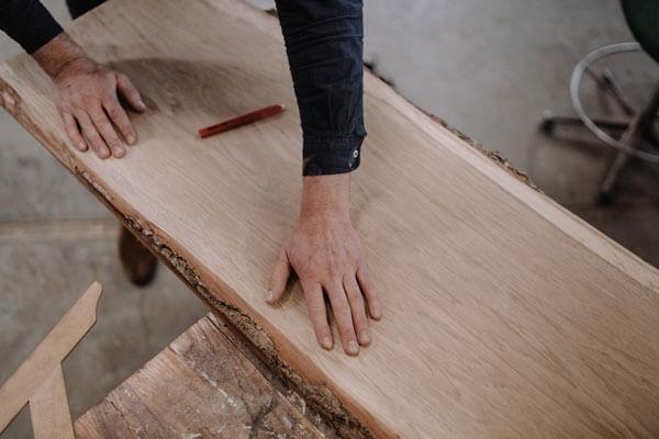 Mätning inför tillverkning av trägolv